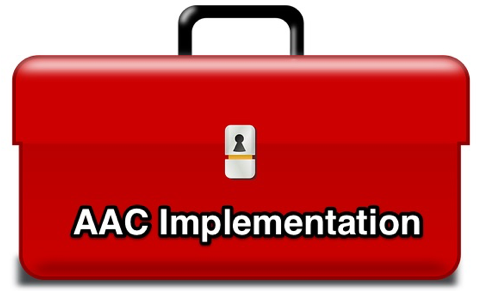 Toolbox with the words AAC Implementation