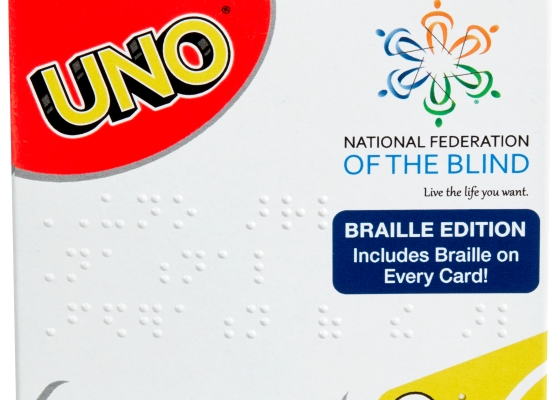 UNO Braille Edition card box
