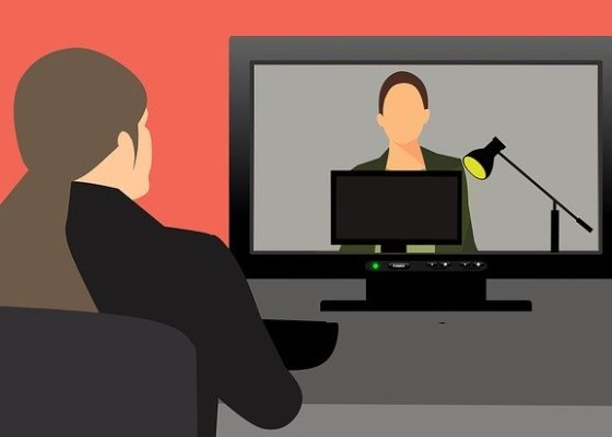 Remote video conferencing graphic