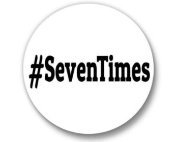 Button with #SevenTimes